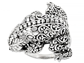 "Sterling Silver Frog ""Leap of Faith"" Ring"