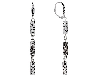 """Picture of Sterling Silver """"Love One Another"""" Dangle Earrings"""