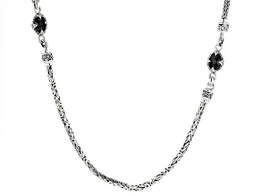 Black Spinel Sterling Silver Necklace 4.26ctw
