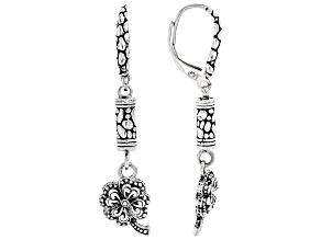 "Sterling Silver ""Right Response"" Clover Earrings"