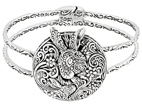 "Sterling Silver ""Spring Bunny"" Bangle Bracelet"