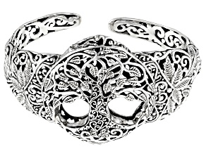 "Sterling Silver ""Tree Of Knowledge"" Cuff Bracelet"