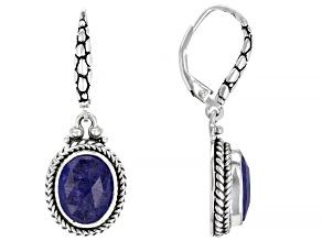 Tanzanite Silver Dangle Earrings 5.16ctw