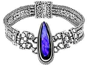 Labradorite Doublet Sterling Silver Bracelet