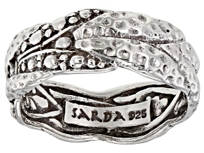 "Sterling Silver ""God Leading Us"" Band Ring"