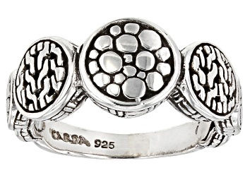 """Picture of Sterling Silver """"He Sustains Us"""" Band Ring"""