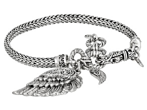 "Sterling Silver ""Mighty Warrior"" Charm Bracelet"