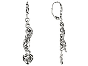"Sterling Silver ""Mighty Warrior"" Dangle Earrings"
