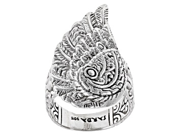 "Picture of Sterling Silver ""Mighty Warrior"" Angel Wing Ring"