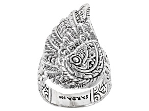 "Sterling Silver ""Mighty Warrior"" Angel Wing Ring"