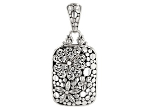"Sterling Silver ""Renewed Day By Day"" Floral Pendant"