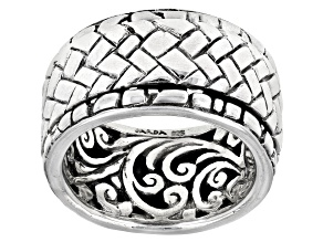 "Sterling Silver ""The Struggle Is Real"" Spinner Band Ring"