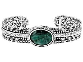 Emerald Sterling Silver Cuff Bracelet