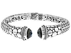 Gray Labradorite Sterling Silver Cuff Bracelet