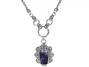Tiffany Stone Silver Necklace