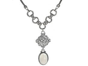 White Moonstone Sterling Silver Necklace