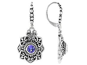 Tanzanite Sterling Silver Dangle Earrings 0.58ctw