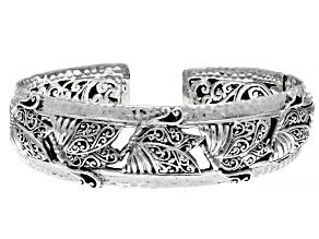 "Sterling Silver ""This Too Shall Pass"" Butterfly Cuff Bracelet"