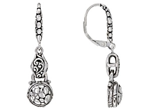 Sterling Silver Watermark Detail Dangle Earrings