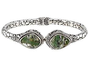 Australian Green Opal Sterling Silver Bracelet