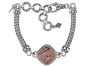 Australian Pink Opal Silver Bracelet