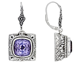 Pinnacle Star™ Quartz Silver Dangle Earrings 8.50ctw