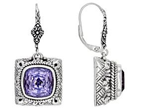 Pinnacle Star™ Quartz Silver Dangle Earrings 8.50ctw