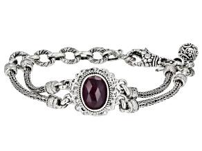 Ruby Sterling Silver Bracelet 6.38ctw