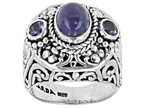 Tanzanite Sterling Silver Ring 2.82ctw