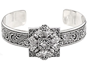 Sterling Silver Floral Bracelet