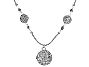 """Sterling Silver """"Here Is Life"""" Locket Necklace"""