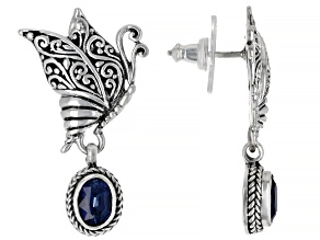 Kyanite Sterling Silver Butterfly Earrings 1.76ctw