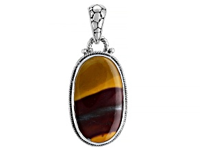 Mookaite Cabochon Sterling Silver Pendant