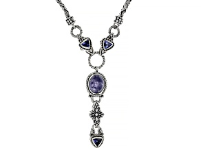 Tanzanite Silver Necklace 0.78ctw