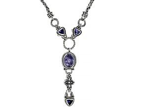 Tanzanite Silver Necklace 0.78ctw
