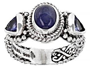Tanzanite Silver Ring 0.52ctw