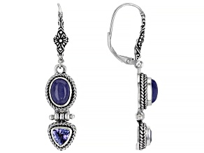 Tanzanite Silver Earrings 0.52ctw