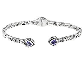Tanzanite Sterling Silver Cuff Bracelet 0.52ctw