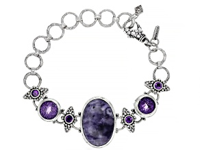 Tiffany Stone And Amethyst Sterling Silver Necklace 6.65ctw