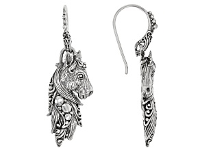 "Sterling Silver ""Tender Life"" Horse Dangle Earrings"