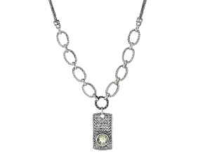 Green Prasiolite Sterling Silver Necklace 3.06ct