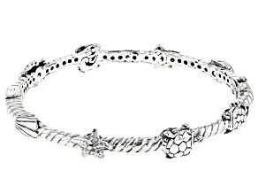 "Sterling Silver ""Pure Joy"" Bangle Bracelet"