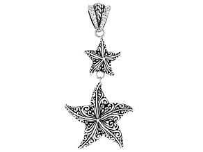 "Sterling Silver  ""From This Day On"" Star Drop Pendant"