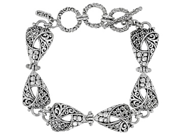 """Picture of Sterling Silver """"Faith Blossomed"""" Bracelet"""