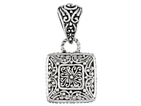 Sterling Silver Reversible Filigree Pendant
