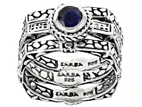Blue Kyanite Sterling Silver Ring Set 0.55ct