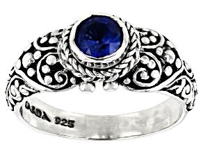 Blue Kyanite  Silver Ring 0.55ct