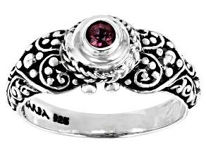 Pink Tourmaline Silver Ring 0.21ct