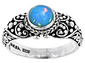 Ethiopian Opal Silver Ring 5mm