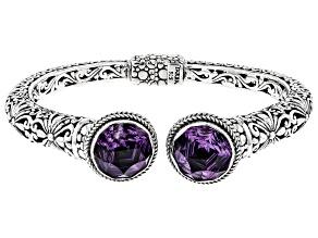 Purple Brazilian Amethyst Sterling Silver Bracelet 13.60ctw
